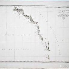 Arte: CARTE PARTICULIERE DE LA CÔTE DU NORD-OUEST DE L'AMÉRIQUE. LA BOUSSOLE ET L'ASTROLABE EN 1786. Lote 80226837