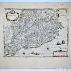 Arte: CATALONIA. MAPA DE CATALUNYA. CATALUÑA. WILLEM BLAEU, AMSTERDAM, 1635.. Lote 115559735