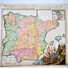 Arte - Mapa de España - Portugal Hispania Benedictina seu monasteria... Rupert Carl - 50266731