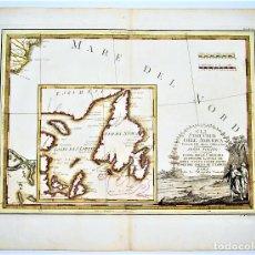 Arte: MAPA DE CANADÁ AMÉRICA. GULF OF SAINT LAWRENCE. GIOVANNI MARIA CASSINI. GLI STATI UNITI DELL'AMERICA. Lote 50498615