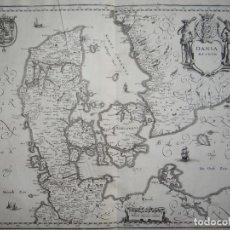 Arte: ANTIGUO MAPA DE DINAMARCA ( EUROPA ), 1641. MERIAN. Lote 119176759