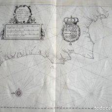 Arte: CARTA NÁUTICA DE ASTURIAS, GALICIA, PORTUGAL Y ANDALUCIA OCCIDENTAL (ESPAÑA), 1641. MERIAN. Lote 119512867