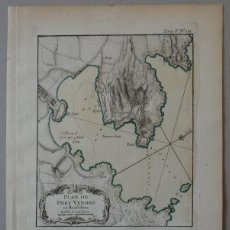 Arte: MAPA DE PORT-VENDRES (ROSELLON, FRANCIA), 1764. BELLIN. Lote 119698259