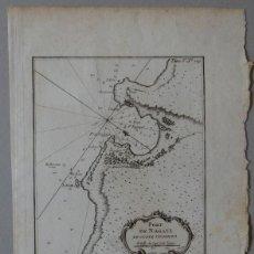 Arte: MAPA DE CONCARNEAU (BRETAÑA, FRANCIA), 1764. BELLIN. Lote 119701691