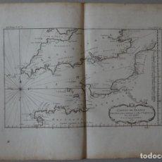 Arte: MAPA DE BREST Y DUNKERQUE (COSTA NORTE DE FRANCIA), 1761. BELLIN. Lote 119706835