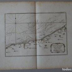 Arte: MAPA DE FLANDES Y PICARDIA (FRANCIA), 1764. BELLIN. Lote 119707523