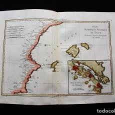 Arte: MAPA DE LAS ISLAS BALEARES, BARCELONA, VALENCIA...(ESPAÑA), 1787. BONNE. Lote 119716383