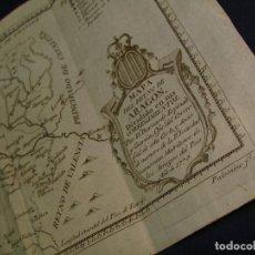 Arte: MAPA DEL REYNO DE ARAGÓN DIVIDIDO EN CORREGIMIENTOS. 1779. B. ESPINALT. Lote 119888191