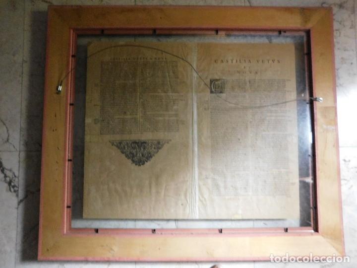 Arte: MAPA DE CASTILLA Y ALREDEDOR. ORIGINAL, JOHANNES JANSSONIUS, 1638 [ S.17 ] SIN EL MARCO - Foto 2 - 119922711