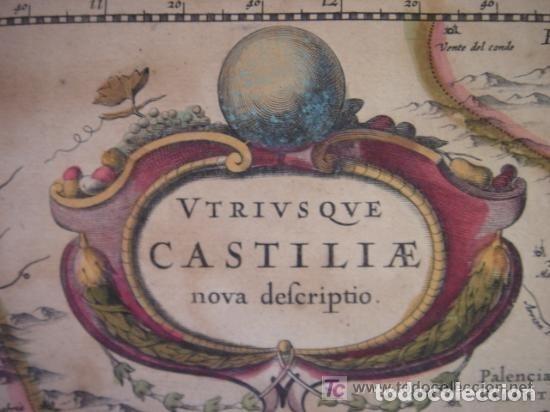 Arte: MAPA DE CASTILLA Y ALREDEDOR. ORIGINAL, JOHANNES JANSSONIUS, 1638 [ S.17 ] SIN EL MARCO - Foto 4 - 119922711