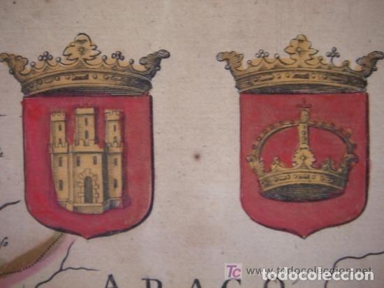 Arte: MAPA DE CASTILLA Y ALREDEDOR. ORIGINAL, JOHANNES JANSSONIUS, 1638 [ S.17 ] SIN EL MARCO - Foto 6 - 119922711