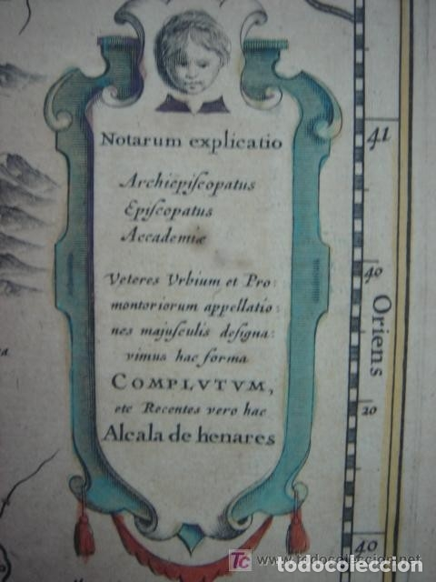 Arte: MAPA DE CASTILLA Y ALREDEDOR. ORIGINAL, JOHANNES JANSSONIUS, 1638 [ S.17 ] SIN EL MARCO - Foto 7 - 119922711