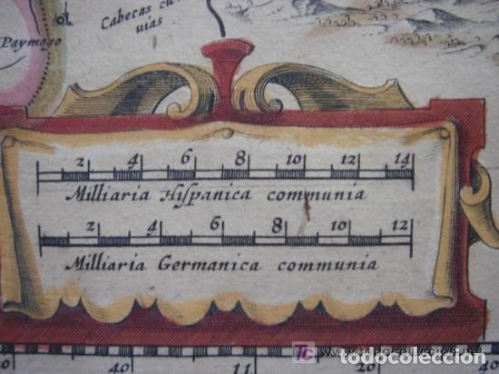 Arte: MAPA DE CASTILLA Y ALREDEDOR. ORIGINAL, JOHANNES JANSSONIUS, 1638 [ S.17 ] SIN EL MARCO - Foto 9 - 119922711
