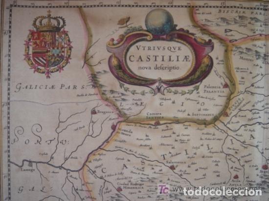 Arte: MAPA DE CASTILLA Y ALREDEDOR. ORIGINAL, JOHANNES JANSSONIUS, 1638 [ S.17 ] SIN EL MARCO - Foto 10 - 119922711