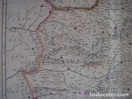 Arte: MAPA DE CASTILLA Y ALREDEDOR. ORIGINAL, JOHANNES JANSSONIUS, 1638 [ S.17 ] SIN EL MARCO - Foto 11 - 119922711