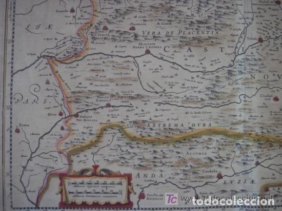 Arte: MAPA DE CASTILLA Y ALREDEDOR. ORIGINAL, JOHANNES JANSSONIUS, 1638 [ S.17 ] SIN EL MARCO - Foto 12 - 119922711