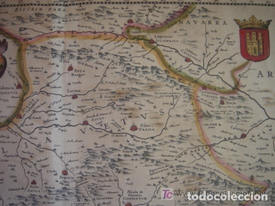 Arte: MAPA DE CASTILLA Y ALREDEDOR. ORIGINAL, JOHANNES JANSSONIUS, 1638 [ S.17 ] SIN EL MARCO - Foto 13 - 119922711