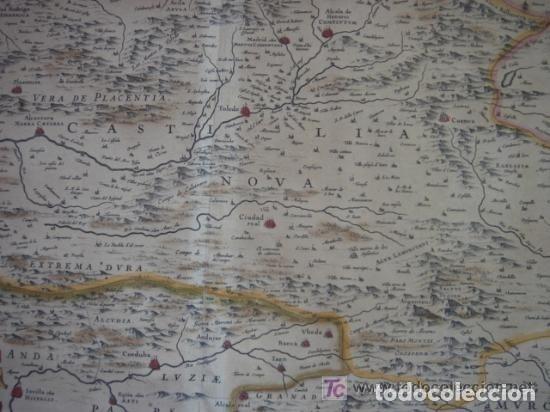Arte: MAPA DE CASTILLA Y ALREDEDOR. ORIGINAL, JOHANNES JANSSONIUS, 1638 [ S.17 ] SIN EL MARCO - Foto 14 - 119922711
