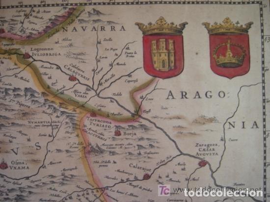 Arte: MAPA DE CASTILLA Y ALREDEDOR. ORIGINAL, JOHANNES JANSSONIUS, 1638 [ S.17 ] SIN EL MARCO - Foto 15 - 119922711