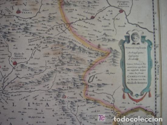 Arte: MAPA DE CASTILLA Y ALREDEDOR. ORIGINAL, JOHANNES JANSSONIUS, 1638 [ S.17 ] SIN EL MARCO - Foto 16 - 119922711
