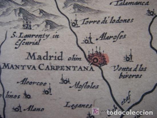 Arte: MAPA DE CASTILLA Y ALREDEDOR. ORIGINAL, JOHANNES JANSSONIUS, 1638 [ S.17 ] SIN EL MARCO - Foto 18 - 119922711