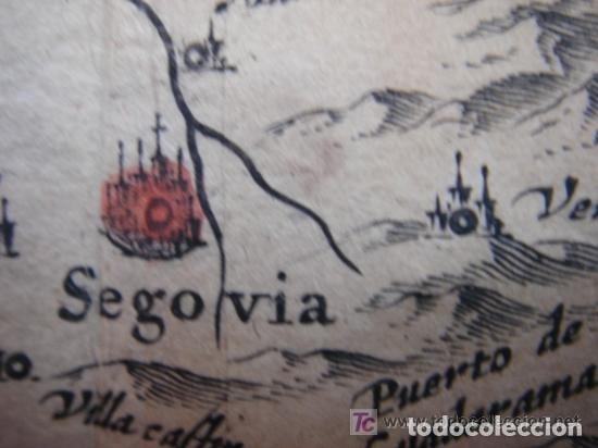 Arte: MAPA DE CASTILLA Y ALREDEDOR. ORIGINAL, JOHANNES JANSSONIUS, 1638 [ S.17 ] SIN EL MARCO - Foto 20 - 119922711