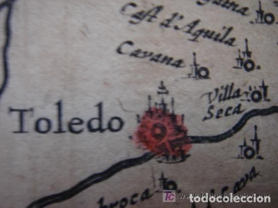 Arte: MAPA DE CASTILLA Y ALREDEDOR. ORIGINAL, JOHANNES JANSSONIUS, 1638 [ S.17 ] SIN EL MARCO - Foto 22 - 119922711