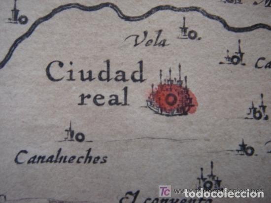 Arte: MAPA DE CASTILLA Y ALREDEDOR. ORIGINAL, JOHANNES JANSSONIUS, 1638 [ S.17 ] SIN EL MARCO - Foto 23 - 119922711