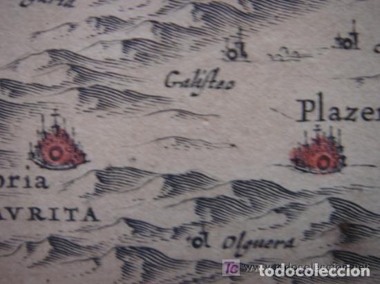 Arte: MAPA DE CASTILLA Y ALREDEDOR. ORIGINAL, JOHANNES JANSSONIUS, 1638 [ S.17 ] SIN EL MARCO - Foto 24 - 119922711