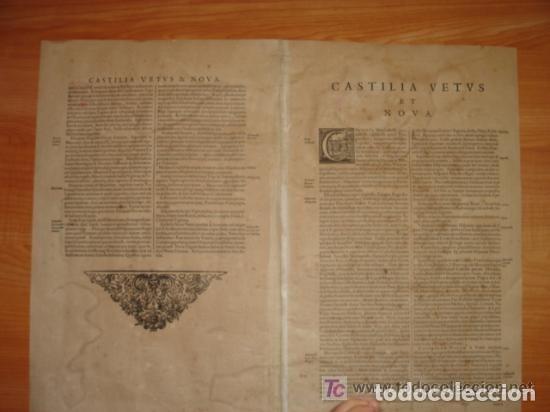 Arte: MAPA DE CASTILLA Y ALREDEDOR. ORIGINAL, JOHANNES JANSSONIUS, 1638 [ S.17 ] SIN EL MARCO - Foto 29 - 119922711