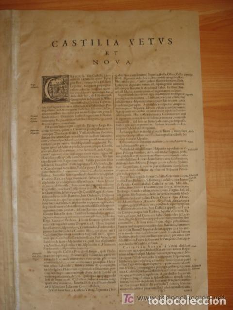Arte: MAPA DE CASTILLA Y ALREDEDOR. ORIGINAL, JOHANNES JANSSONIUS, 1638 [ S.17 ] SIN EL MARCO - Foto 30 - 119922711