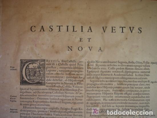 Arte: MAPA DE CASTILLA Y ALREDEDOR. ORIGINAL, JOHANNES JANSSONIUS, 1638 [ S.17 ] SIN EL MARCO - Foto 32 - 119922711