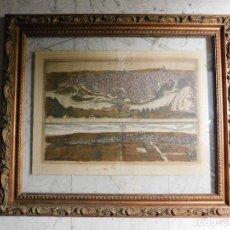 Arte: DOS GRABADO DE TOLEDO Y VALLADOLID, ORIGINALES, 1617 [S.17] BRAUN Y HOGENBERG [SIN MARCO]. Lote 119997535