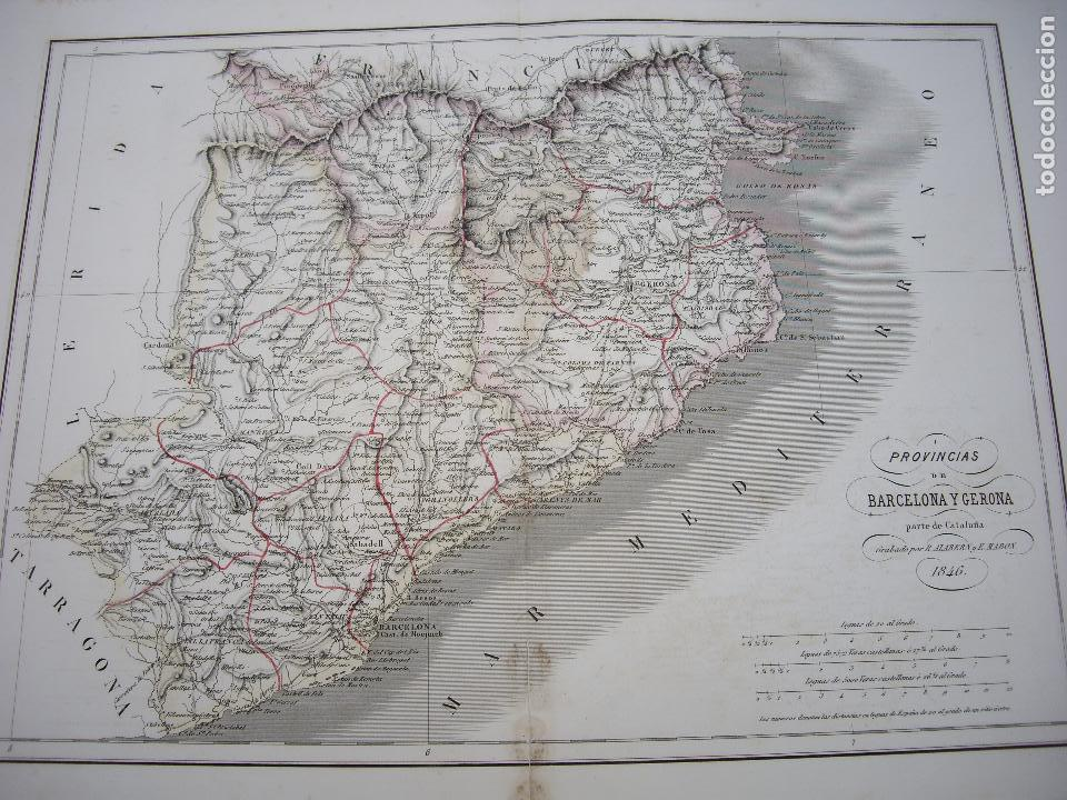 MAPA GRABADO POR R.ALABERN Y E.MABON 1846 (Arte - Cartografía Antigua (hasta S. XIX))