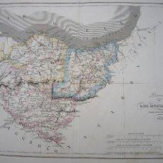 Arte: MAPA GRABADO POR R.ALABERN Y E.MABON ALAVA,GUIPUZCOA Y VIZCAYA 1846. Lote 120110831