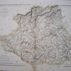 Arte: MAPA DE CACERES GRABADO POR R.ALABERN Y E.MABON 1846. Lote 120111191