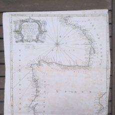 Arte: MAPA PENÍNSULA IBÉRICA.ESPAÑA,PORTUGAL,FRANCIA.GOLFO DE VIZCAYA.1744.LONDRES.SEALE R. TINDAL & RAPIN. Lote 120048204