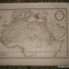 Arte: MAPA DEL NORTE Y CENTRO DE ÁFRICA, 1810. CHAMOUIN/LAPIE. Lote 120181943