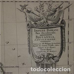 Arte: Mapa de las Islas Británicas (Europa), en época romana, 1787. Pretot - Foto 3 - 120189751