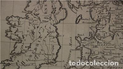 Arte: Mapa de las Islas Británicas (Europa), en época romana, 1787. Pretot - Foto 7 - 120189751