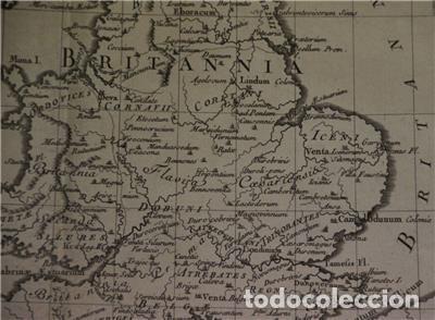 Arte: Mapa de las Islas Británicas (Europa), en época romana, 1787. Pretot - Foto 8 - 120189751