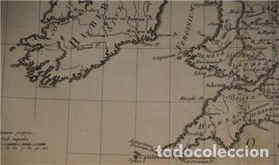 Arte: Mapa de las Islas Británicas (Europa), en época romana, 1787. Pretot - Foto 9 - 120189751