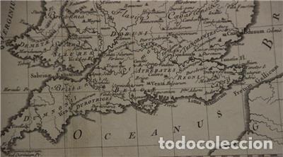 Arte: Mapa de las Islas Británicas (Europa), en época romana, 1787. Pretot - Foto 10 - 120189751