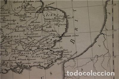 Arte: Mapa de las Islas Británicas (Europa), en época romana, 1787. Pretot - Foto 11 - 120189751