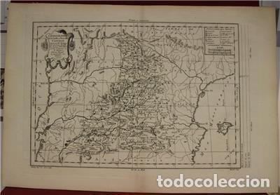 Arte: Antiguo mapa de Castilla y Valencia (España), 1787. Pretot - Foto 2 - 120190787