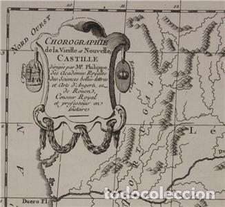 Arte: Antiguo mapa de Castilla y Valencia (España), 1787. Pretot - Foto 3 - 120190787