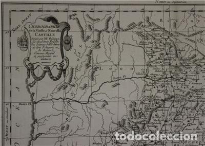 Arte: Antiguo mapa de Castilla y Valencia (España), 1787. Pretot - Foto 4 - 120190787