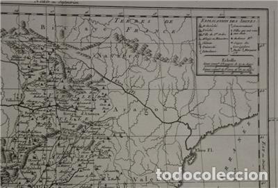Arte: Antiguo mapa de Castilla y Valencia (España), 1787. Pretot - Foto 5 - 120190787