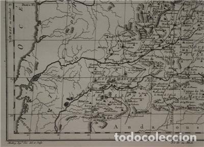 Arte: Antiguo mapa de Castilla y Valencia (España), 1787. Pretot - Foto 6 - 120190787
