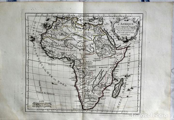 MAPA DE ÁFRICA, 1778. ROBERT VAUGONDY/DELACROIX/DELAMARCHE (Arte - Cartografía Antigua (hasta S. XIX))